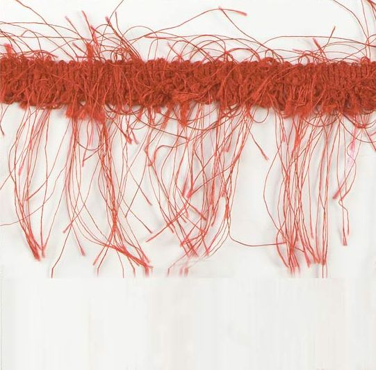 E1785  Red Eyelash Gimp Fringe Trim