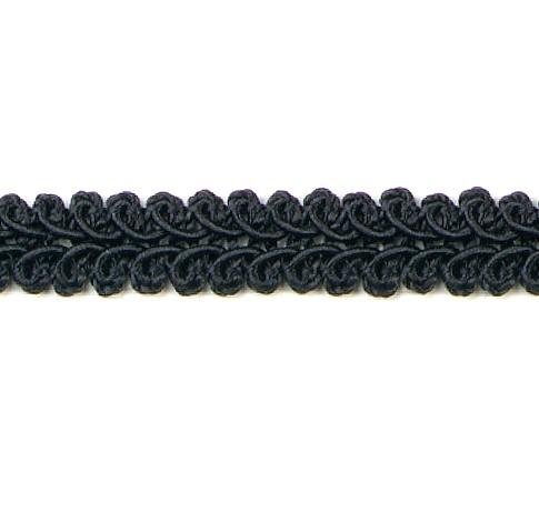 E1901  Black Gimp Sewing Upholstery Trim 1/2