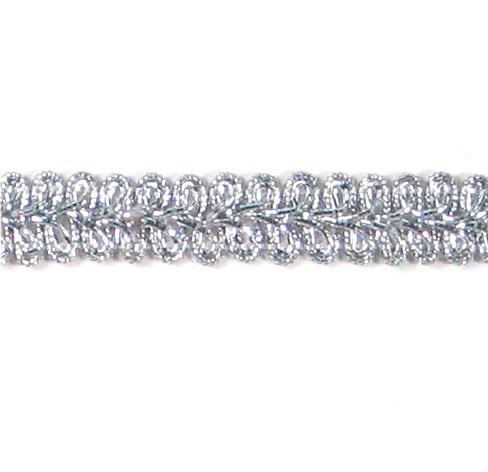 E1901  Silver Metallic Gimp Sewing Upholstery Trim 1/2