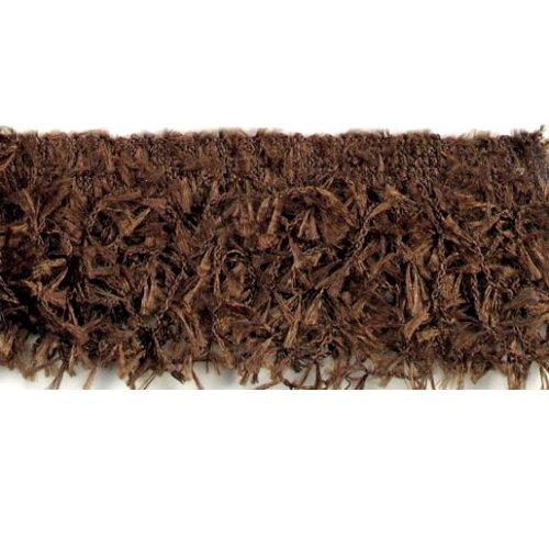 E2585 Brown Hairy Gimp Fringe Sewing Trim