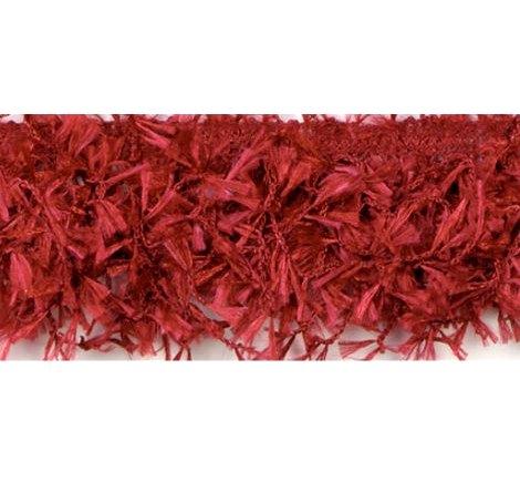 E2585 Brick Red Hairy Gimp Fringe Sewing Trim
