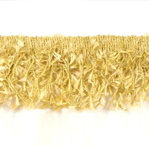 E2585 Gold Hairy Gimp Fringe Sewing Trim