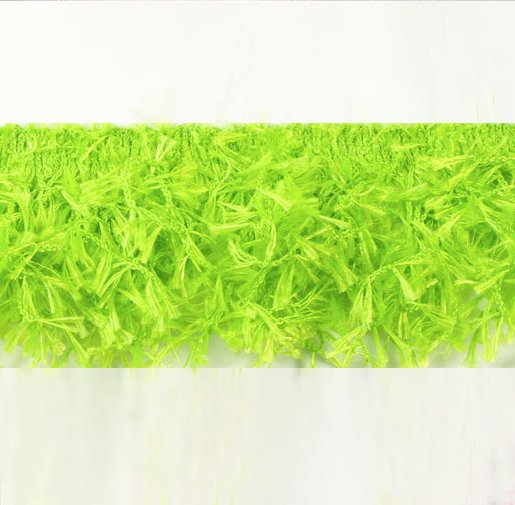 E2585 Lime Green Hairy Gimp Fringe Sewing Trim