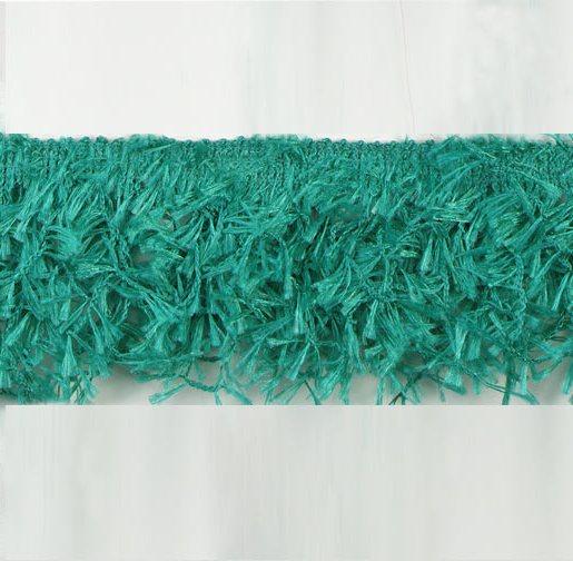E2585 Teal Hairy Gimp Fringe Sewing Trim