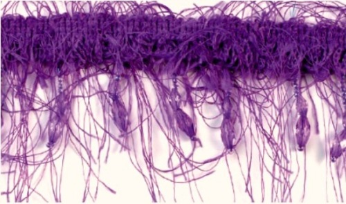 E2664  Purple Beaded Eyelash Gimp Fringe Trim