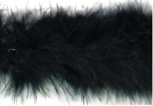 E3760  Black Marabou Feather Fur Sewing Trim 2\