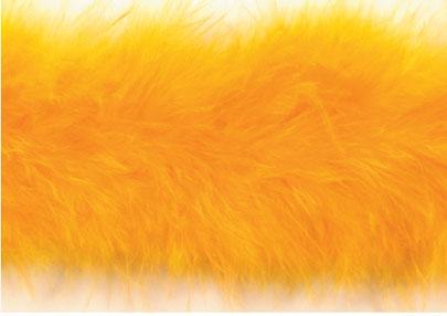 E3760 Yellow Marabou Feather Fur Sewing Trim 2\