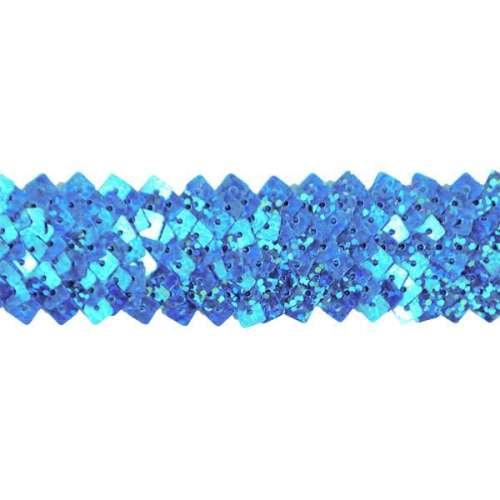 E4568  Turquoise Stretch Starlight Sequin Trim