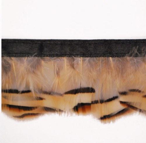 E6145  Beige Marabou Feather Sewing Trim 2