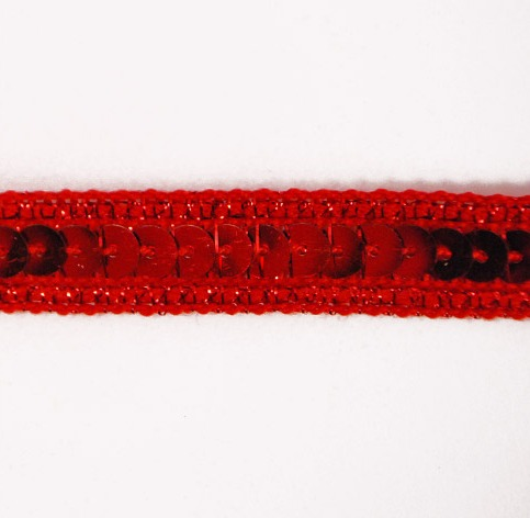 E6168  Red Sequin Sewing Craft Trim 1/2\