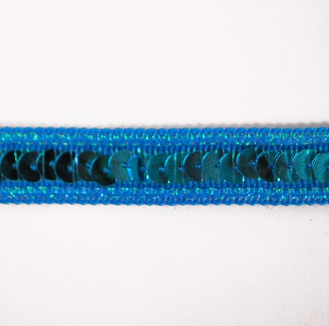 E6168  Turquoise Sequin Sewing Craft Trim 1/2\