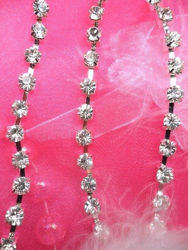 JB79  SS30 Crystal Clear Glass Rhinestone Chain Trim 30SS