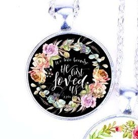 Scripture Necklace We Love Because He First Loved Us Pendant Inspirational Christian Jewelry W Silver Chain Discover over 4808 of our best selection of 1 on aliexpress.com with. scripture necklace we love because he first loved us pendant inspirational christian jewelry w silver chain