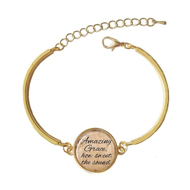 Bracelet Pendant Favorite Hymn Amazing Grace How Sweet the Sound Inspiration About John Newton JW217