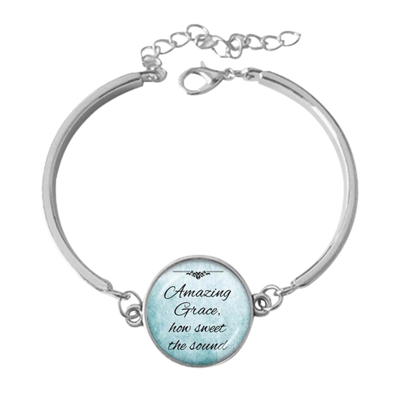 Favorite Hymn Bracelet Pendant Amazing Grace How Sweet the Sound Inspiration John Newton JW218