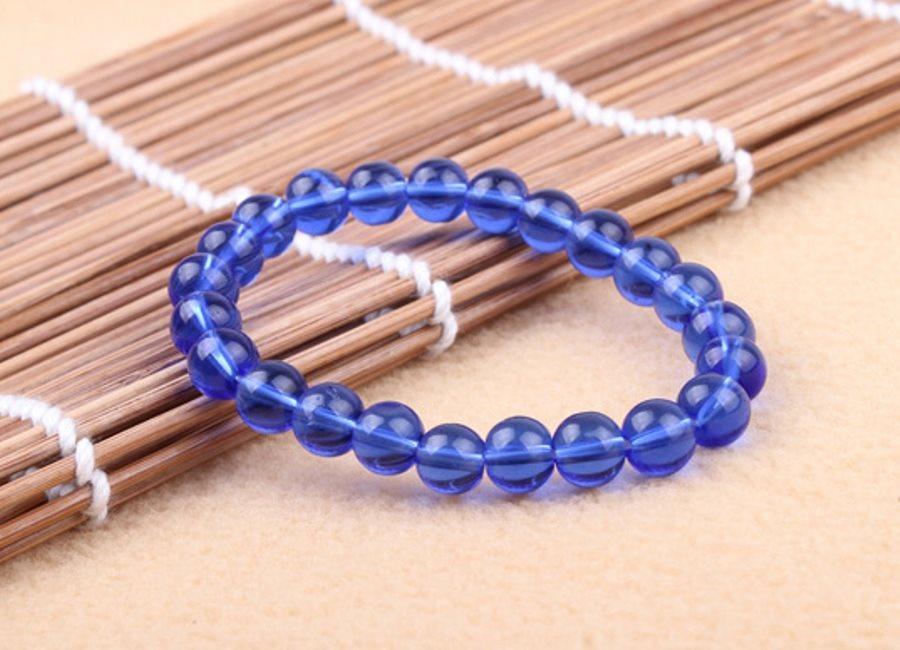 Stretchy Bracelet Blue Beads Costume Jewelry JW64
