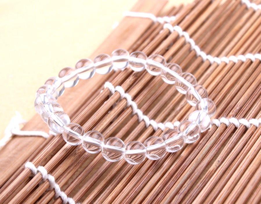 Stretchy Bracelet Clear Beads Costume Jewelry JW64