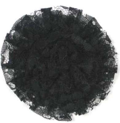 E456 Black Lace Designer Brooch 4
