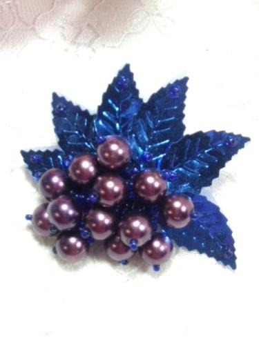 MA269 Blue Leaf Dangle Earring / Brooch / Hair Bow / Applique 2.5