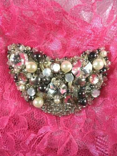 MS59 Rhinestone Jeweled Beaded Applique 3\