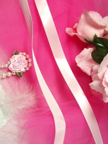 R2  Pink Satin Craft Ribbon 5/8