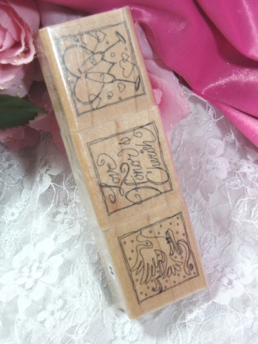 RS8  Set of ( 3)  Bridal Rubber Stamps