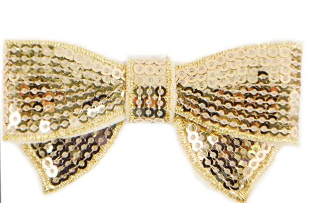Gold Sequin Bows