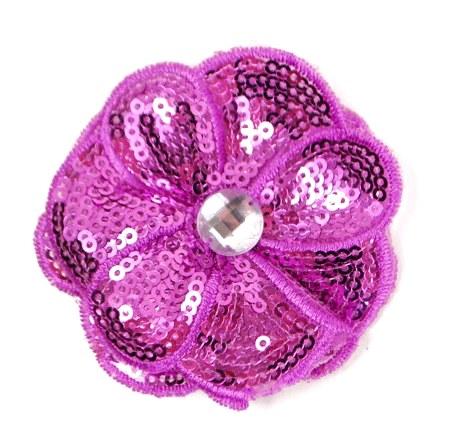 E3460  Lt. Purple Jewel Sequin Applique / Pin 2.5