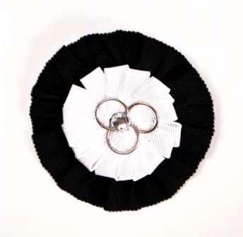 E3464  Black White Round Pin Applique