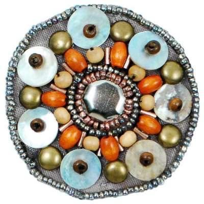 E5860 Multicolor Beaded Shell Applique 2
