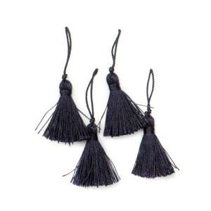 E5970  Set of ( 4 )  Navy Blue Mini Tassels 2""