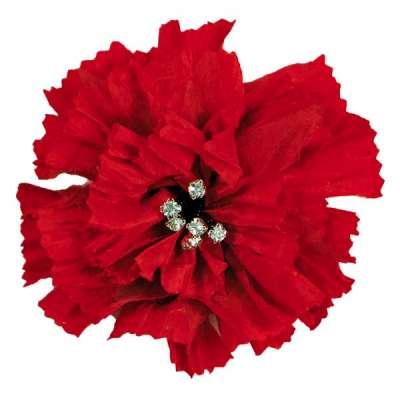 E5982  Red Rhinestone Florantina  Brooch 4