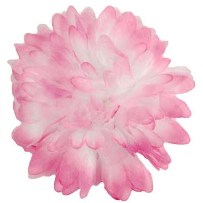 E6021 Organza Mum Fuchsia Floral  Applique Pin Brooch 4.5