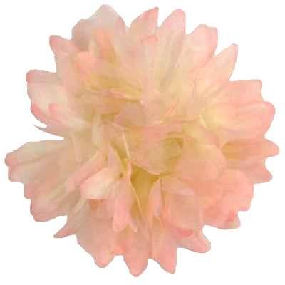 E6021 Organza Mum Peach Floral  Applique Pin Brooch 4.5
