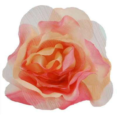 Peach Floral Applique Pin Brooch
