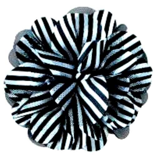 E6041 Black White Floral Brooch Clip Applique 5\