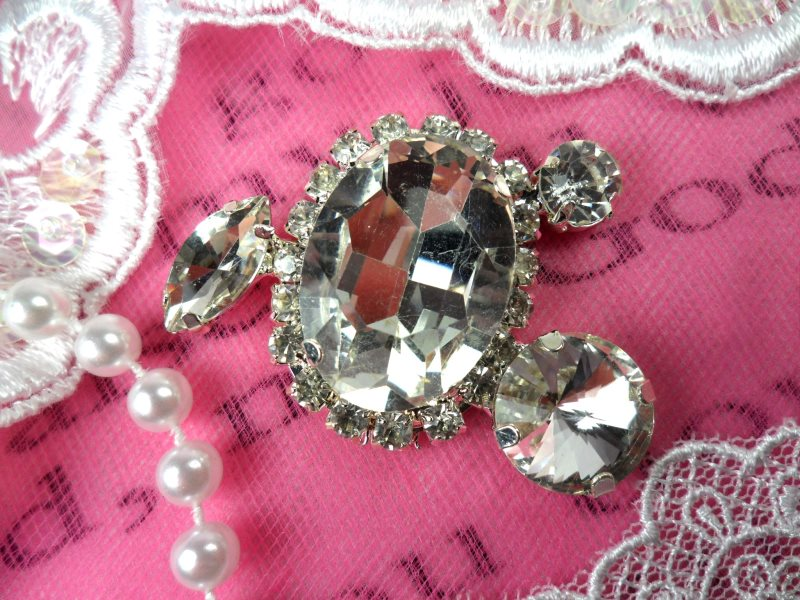 Crystal Clear Rhinestone Embellishment Designer Metal Back 2 (STS233-slcr)