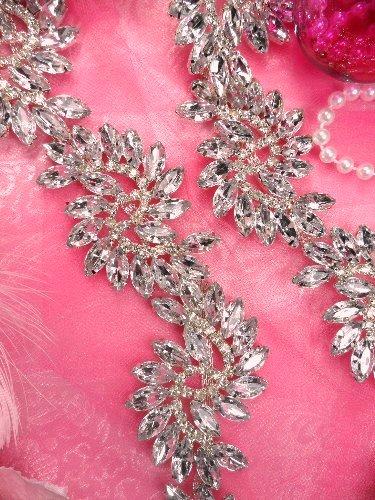 XR120 Marquise Swirl Crystal Rhinestone Embellishing Trim