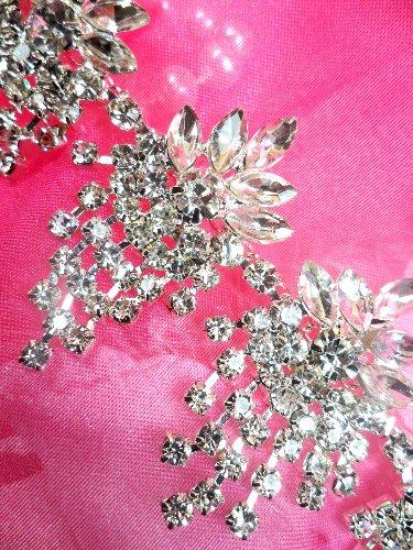 XR182 Rhinestone Trim Glorious Dangles Glass Crystal Embellishing Trim 1.5\