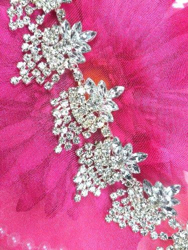 XR185 Glorious Dangles Crystal Rhinestone Embellishing Trim 1.5\