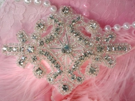 XR5 (Reserved For Roell Auction Winner) Alexis Glory Crystal Glass Rhinestone / Silver Beaded  Applique 4