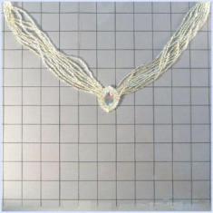 FS1102 Light Gold Silver Crystal Clear Rhinestone Beaded Neckline Collar