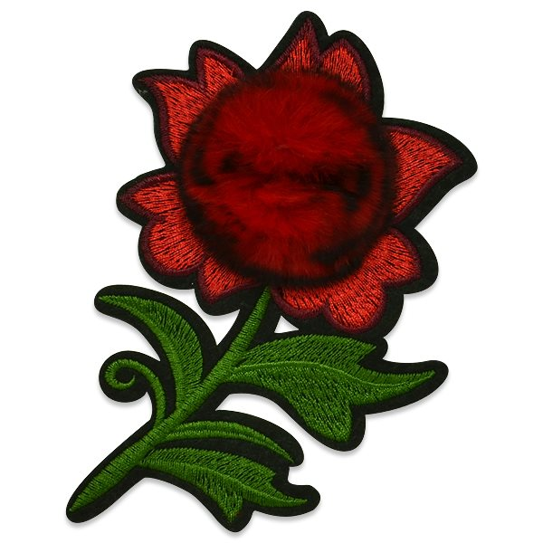 Red Rose Applique Embroidered Iron On Clothing Patch 6 ESA6430