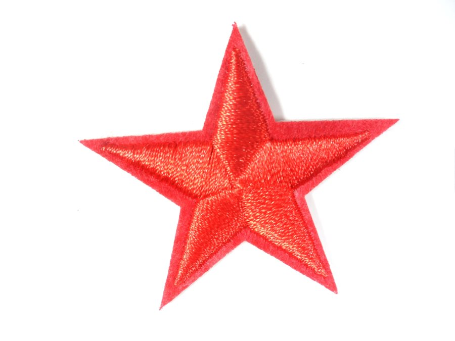 Star Embroidered Applique Red Iron On Patch 2.75 GB709