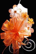 MR020 Choose Size Fuchsia Organza Jewel Floral Embellishment