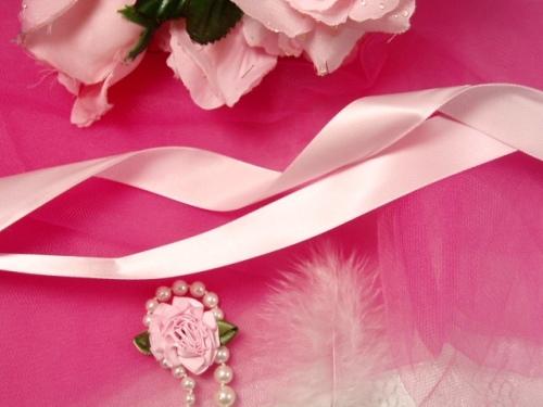R1  Pastel Pink Satin Craft Ribbon 7/8\