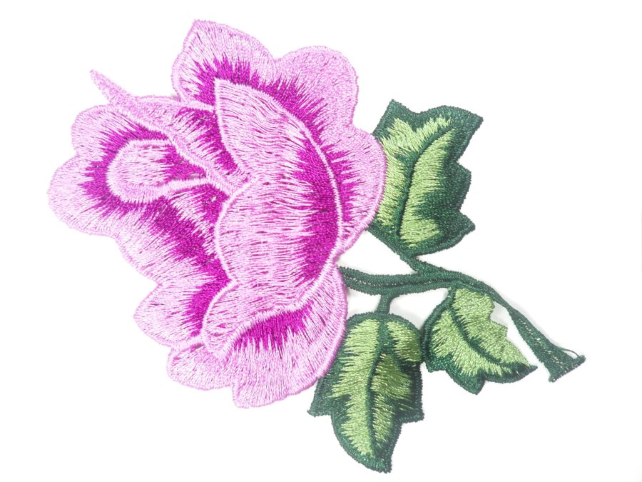 Floral Embroidered Applique Lavender Dance Costume Craft Patch 4.5 GB701
