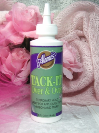 Aleene's Tack-It Over & Over Fabric Glue Repostionablel Temporary Remove and Apply Appliques Numerous times 4 Oz.