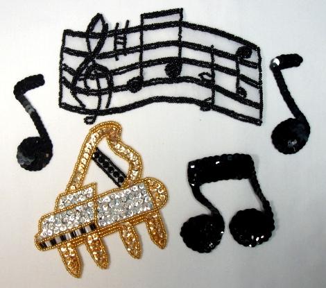 Dance Appliques Musical