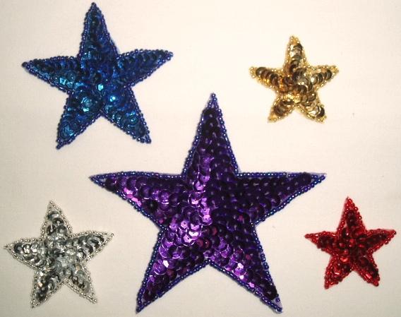 Star Sequin Appliques